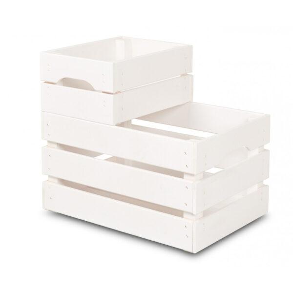 Cutie mare din lemn 46x31x25 cm, alb