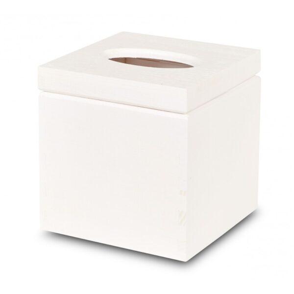 cutie din lemn pentru servetele alb
