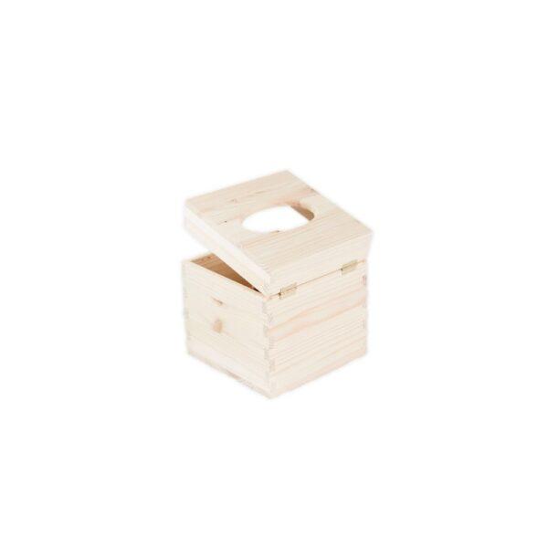 cutie din lemn pentru servetele natur