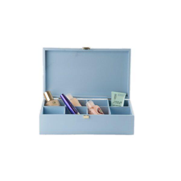 Cutie de lemn cu 8 compartimente pentru plicuri de ceai