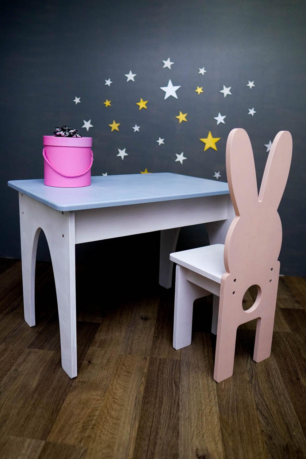 set masa si scaun din lemn pentru copii - www.luxeco.ro